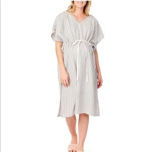 NWOT Maternity Hospital Gown (Striped)